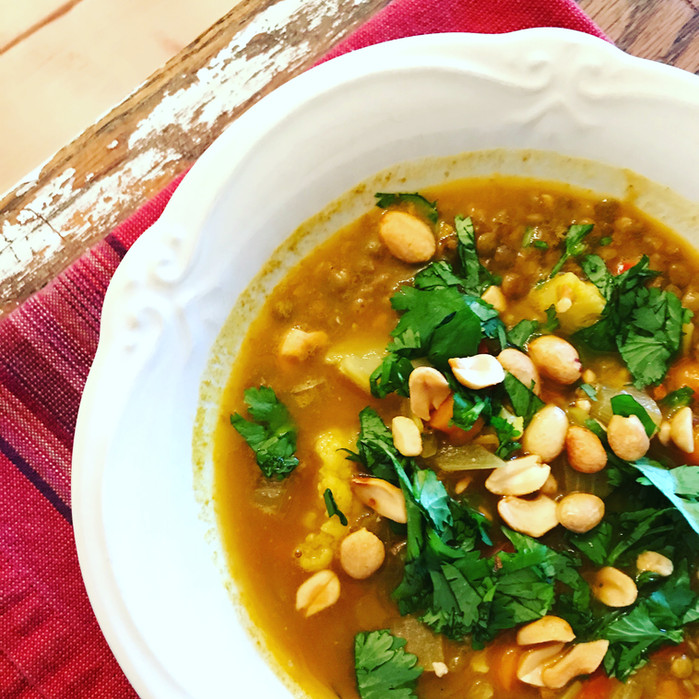 Coconut Curry Lentil Soup with Pumpkin - Boost Your Immunity with Food
