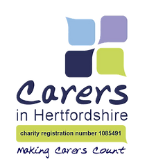 Carers in Hertfordshire logo & strapline