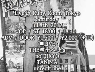 2017.7.8(Sat) noTOKYO @ Shibuya Ruby Room