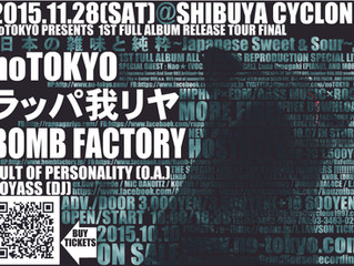 2015.11.28(SAT) noTOKYO @ Shibuya CYCLONE