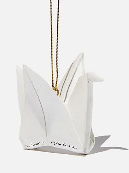 Customizable Paper Crane Holiday Ornament