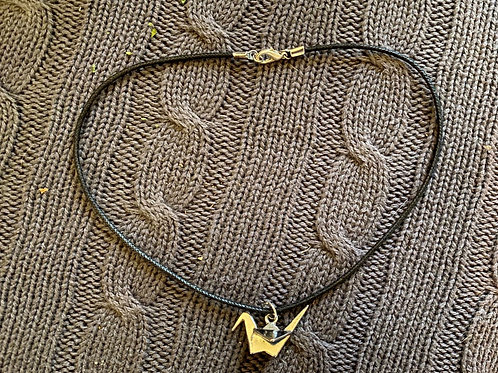 """Requiem for a Lark"" Paper Crane Necklace"