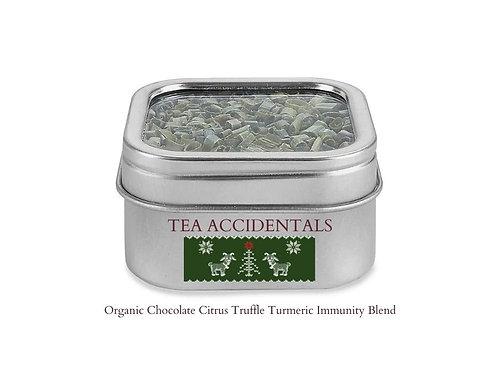 Organic Chocolate Citrus Truffle Tumeric Immunity Blend TEA