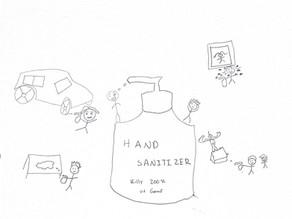 Handful of Hand Sanitizer