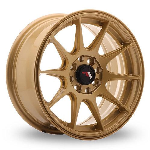 Japan Racing JR11 (7x15) Gold  15 Inch Set of 4 alloy wheels