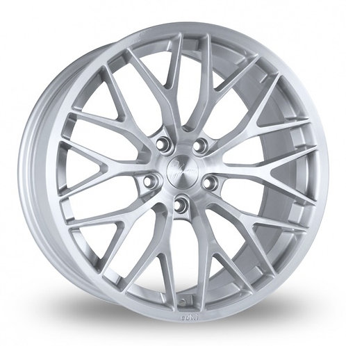 1FORM Edition 1 Brushed Silver Wider Rear 8.5x18 (Front) & 9.5x18 (Rear) Set of