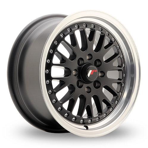 Japan Racing JR10 (7x15) Black Machined Lip  15 Inch Set of 4 alloy wheels