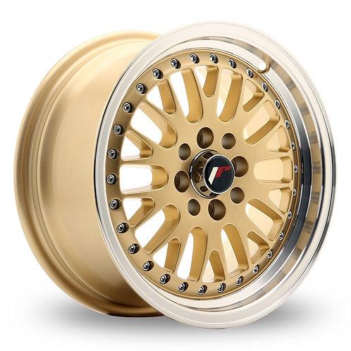 Japan Racing JR10 (7x15) Gold Machined Lip  15 Inch Set of 4 alloy wheels