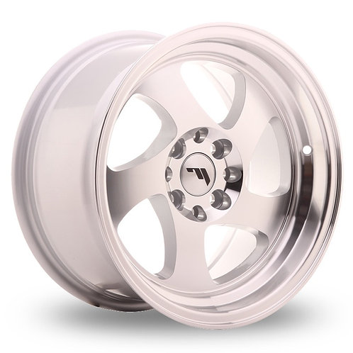 Japan Racing JR15 (8x15) Silver Machined Face  15 Inch Set of 4 alloy wheels