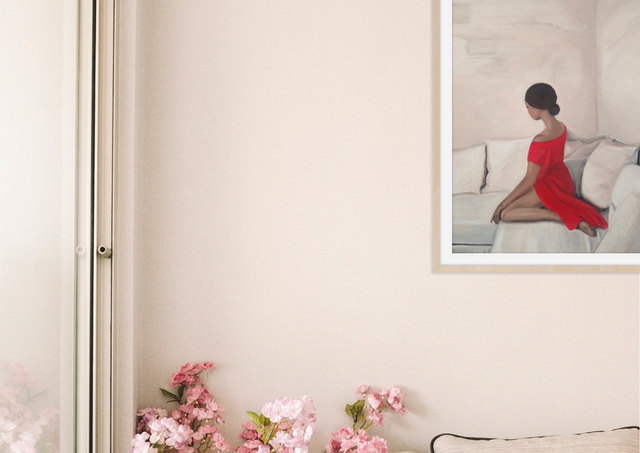 Woman in Red Study I Collection Les Femmes - In a Moment 2019