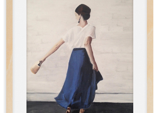 Woman in Blue Study III Collection Les Femmes - In a Moment 2019