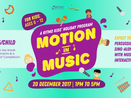 "Calling all Primary School Kids, come have fun at our ""Motion in Music"" Workshop!"