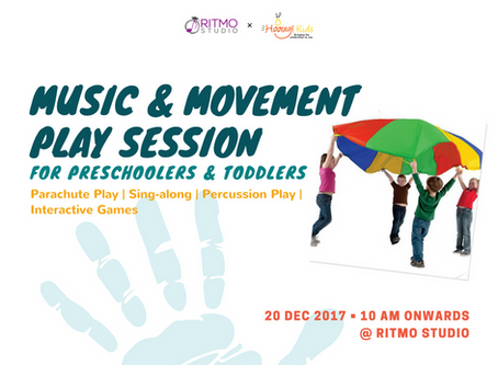 Happening on 20 Dec: Music & Movement Play Session for Kids!