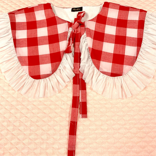 Red Gingham collar