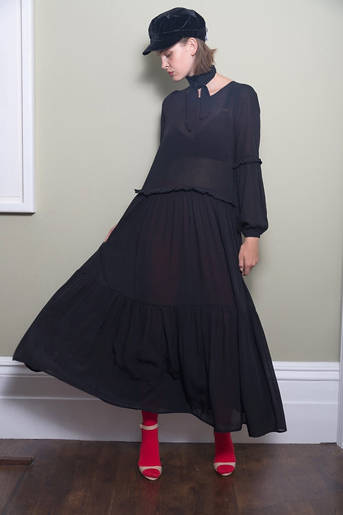 Maxi Dress With Frill Detail