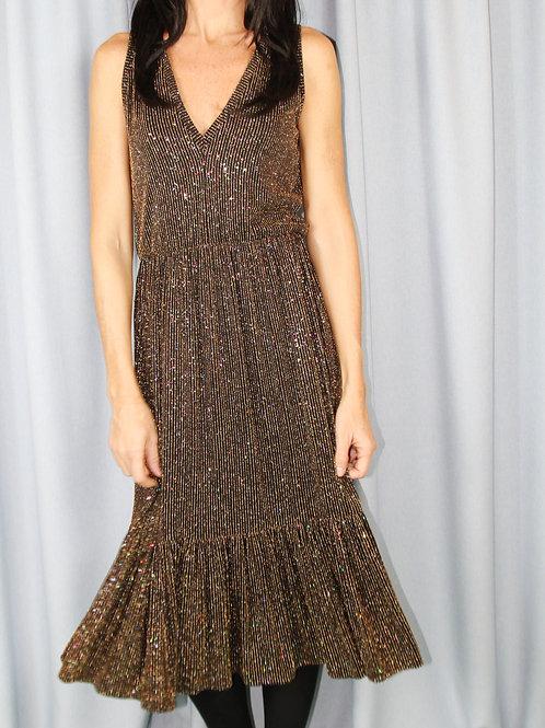 Lurex Sparkly Ruffle Tier Party Dress