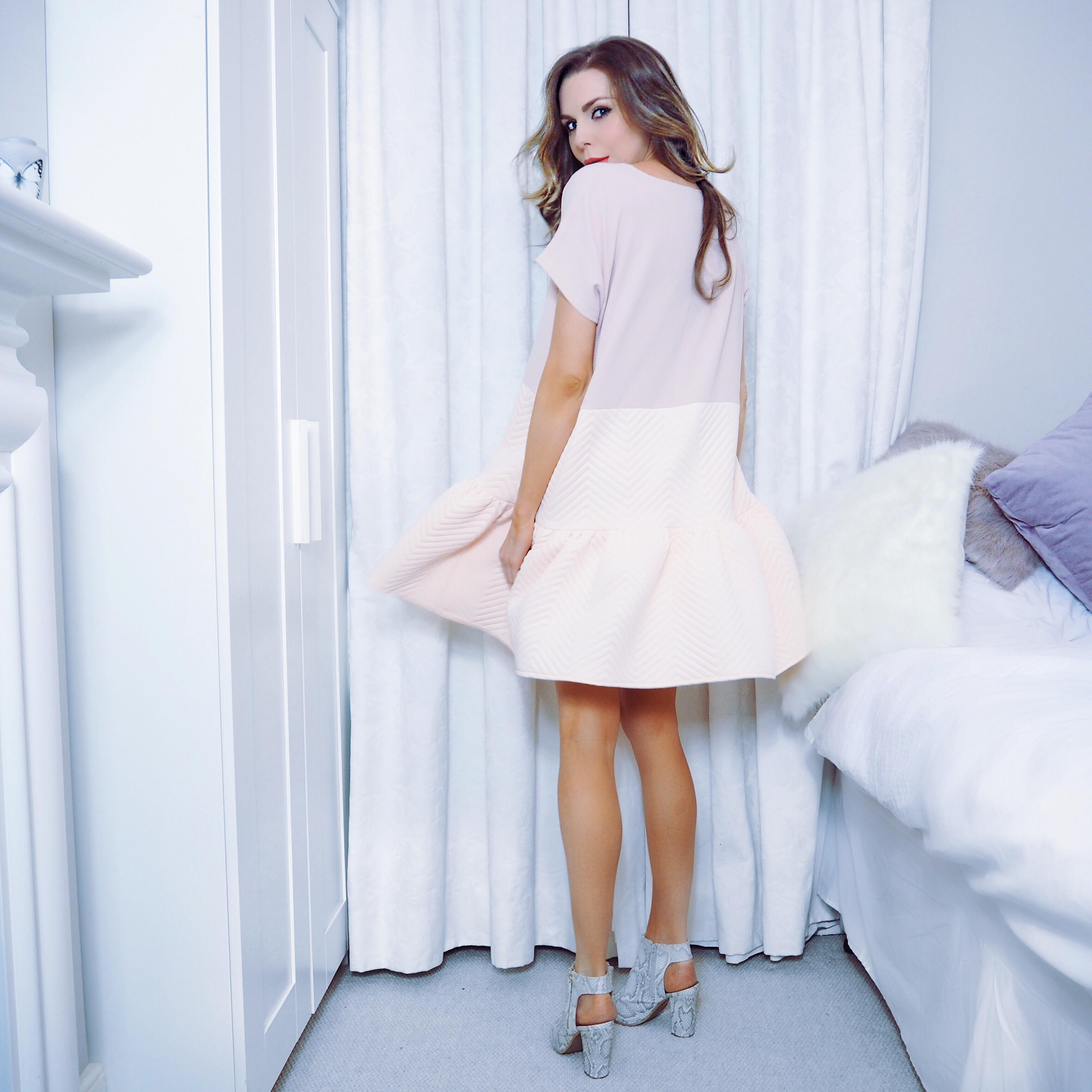 oversized pink dress