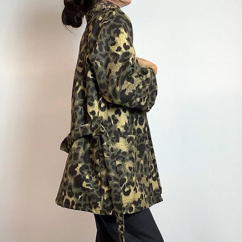 Leopard wool jacket