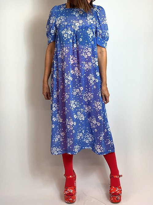 Forget-me-not smock dress