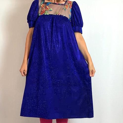 Electric Blue Belle Dress