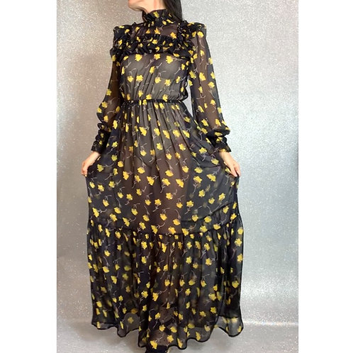 Yellow poppy Calla dress