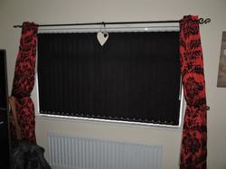 Black vertical blinds