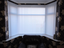 Vertical blinds in a bay