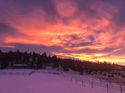 shauna's winter sunset