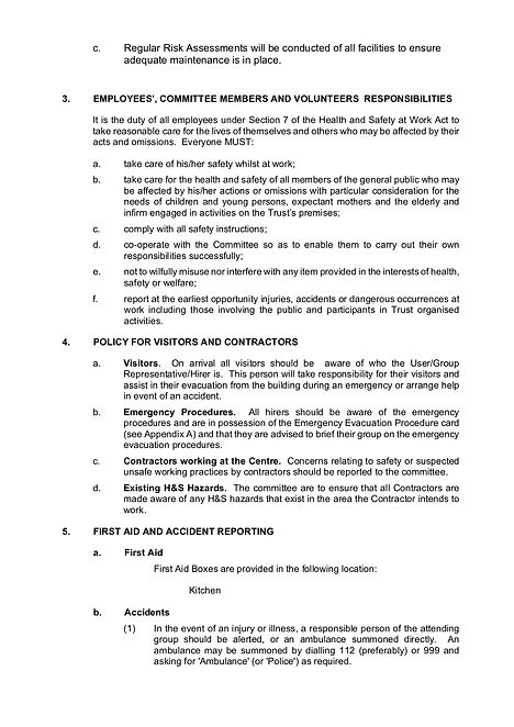 HEALTH AND SAFETY POLICY 24.3.20 V001 P2