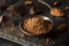 organic cacao powder dark chocolate flavor