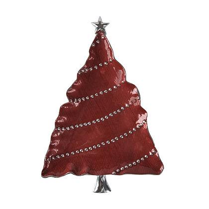 Platón árbol de navidad rayado
