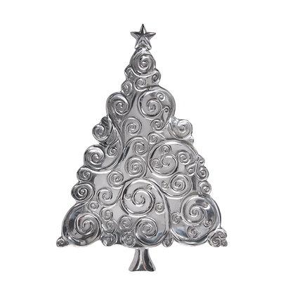 Platón árbol de navidad espiral