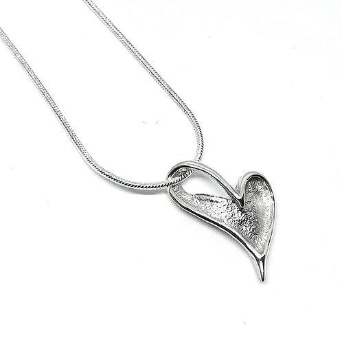 Pendentif coeur romantique