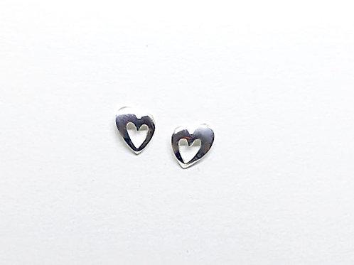Boucles d'oreilles mini coeur