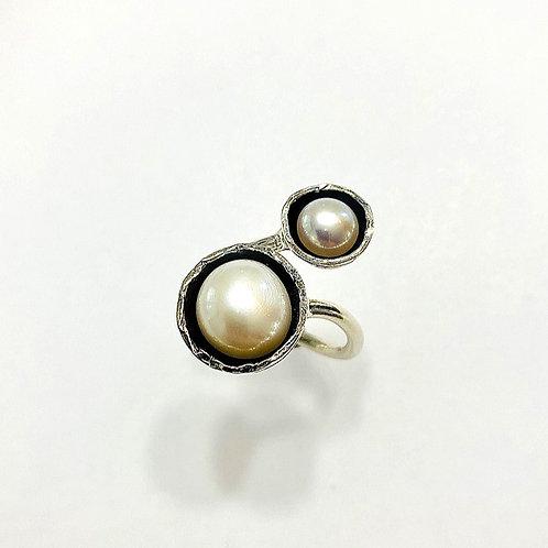 Bague Duo perles