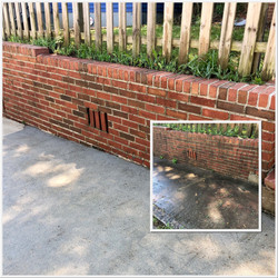 All brick and concrete high-pressure cleaning