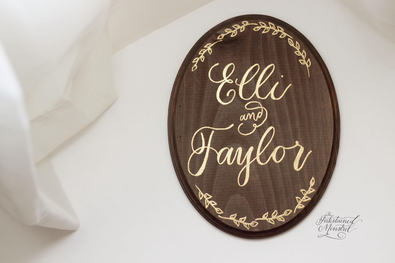 custom name sign_wedding sign_wooden name sign