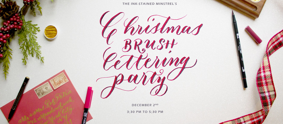 Learn Brush Lettering with Me!