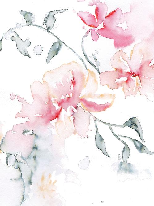5.5x4.25 Card - Loose Florals