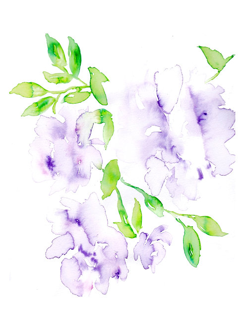 5.5x4.25 Card - Soft Purple Florals