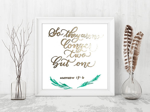 Couple Bible Verse - Embossed Letters