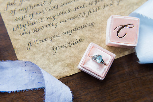Love Letter in Calligraphy - Wedding Day Calligraphy