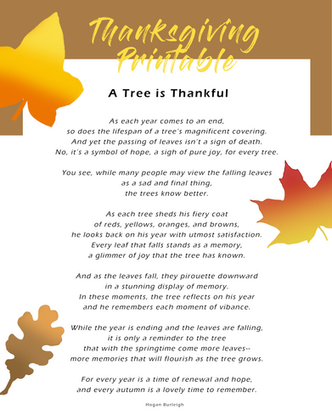 picture about Thankful Leaves Printable identified as A Grateful Printable