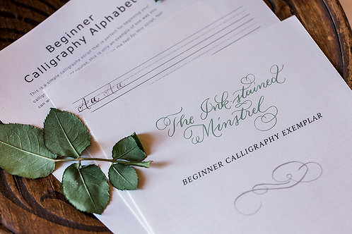 Beginner Calligraphy Worksheets