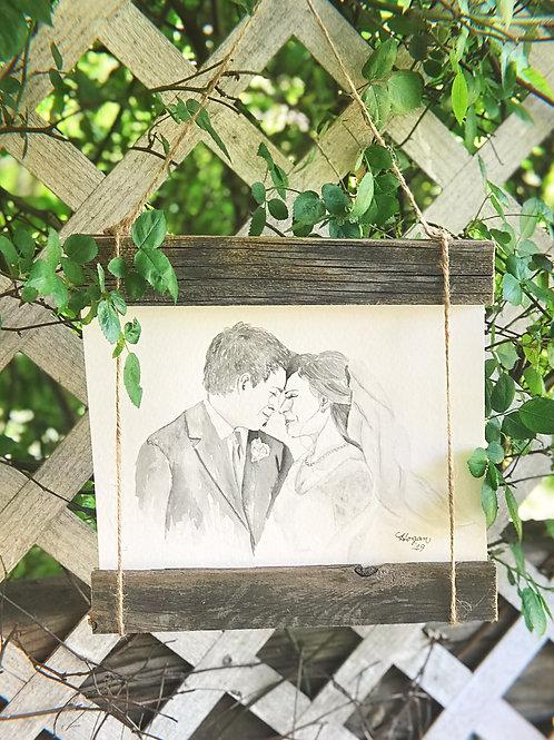 Wedding Portrait in Watercolor