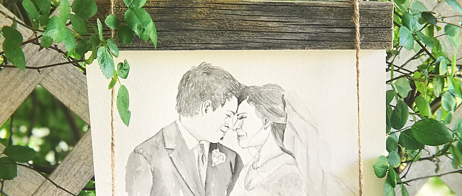 Wedding Portrait in Watercolor