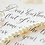 Thumbnail: Vows: Calligraphy His & Hers Wedding Vows