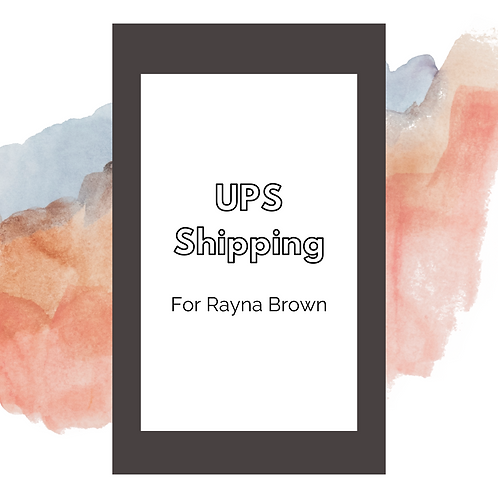 UPS Shipping: Rayna Brown