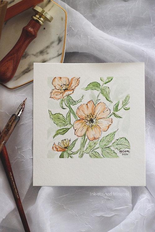 Original Watercolor & Ink Florals