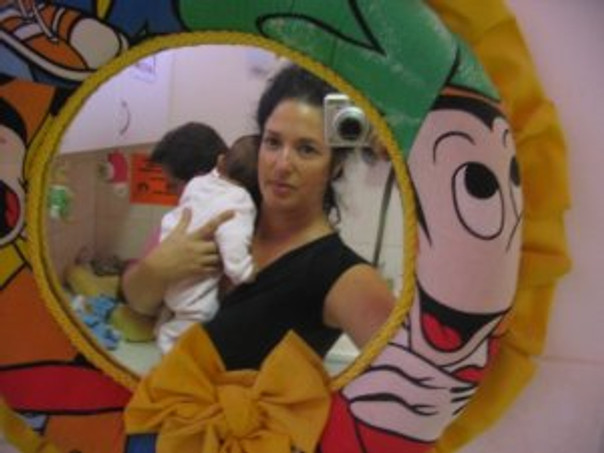 LISA holding baby